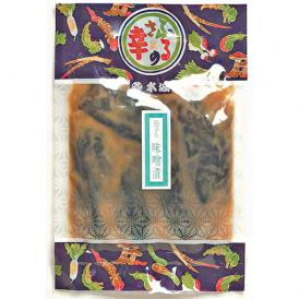 昔ながらの製法で漬け込みました。松本平産茄子の味噌漬です。
