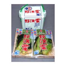 野沢菜醤油漬 頂いてうれしいお手ごろセットです。2袋スチロール箱入