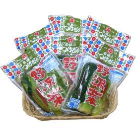 ネット限定 野沢菜(浅漬) 醤油漬6袋
