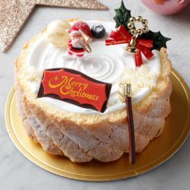 12月10日まで《送料無料》予約販売【大人気スイーツ店のクリスマス★ケーキ】 「ホワイトクリスマス」サイズ直径 / 15cm
