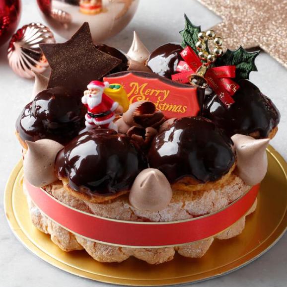 予約販売【大人気スイーツ店のクリスマス★ケーキ】 「クリスマスリース」サイズ直径 / 15cm01