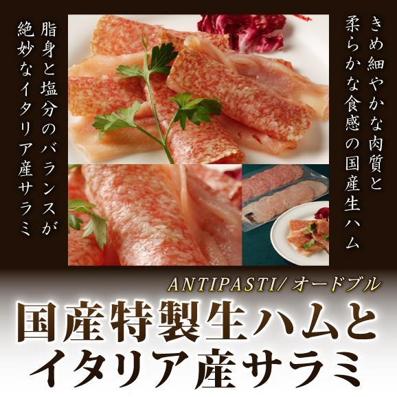 【単品:イタリアンメニュー★オードブル】国産特製生ハムとイタリア産サラミの盛り合わせ01