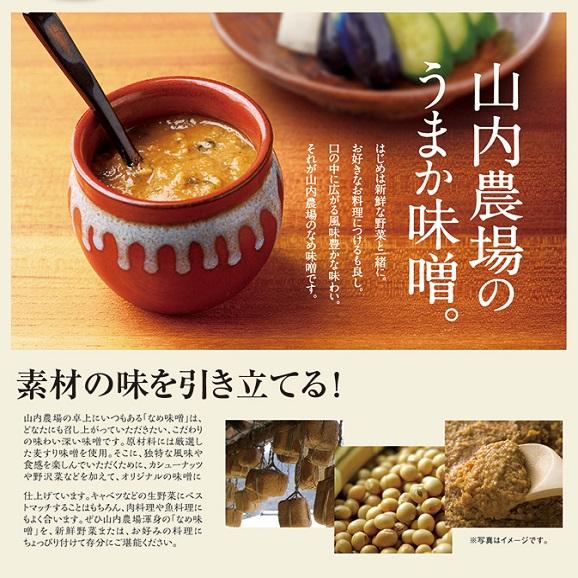 山内農場の人気のなめ味噌5個セット(送料別)04