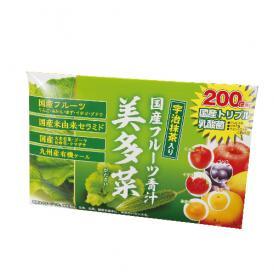 【国産フルーツ青汁】美多菜(3g×30袋)フルーツ5種、乳酸菌200億個、おいしく 飲みやすい 宇治抹茶入り