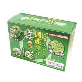 【 国産 青汁 】 美多菜(3g×30袋)ビタミン8種、乳酸菌200億個、おいしく 飲みやすい 宇治抹茶入り