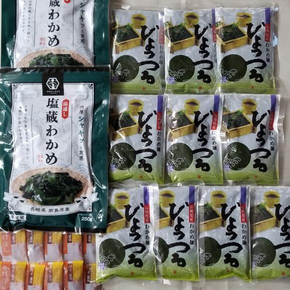 【1食100gで6kcal】わかめ麺ひょっつる(タレ付き)【10パック】と塩蔵わかめ【2パック】のセット04