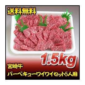 宮崎牛バーベキューワイワイセット5人用(1.5kg)