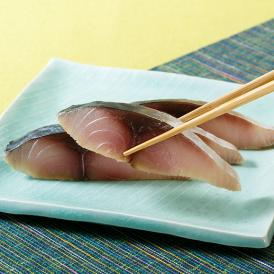 鯖の大トロだけを厳選した「大トロ〆鯖」と香り高い「大トロ炙り」、なますを加えたスペシャルなセットです