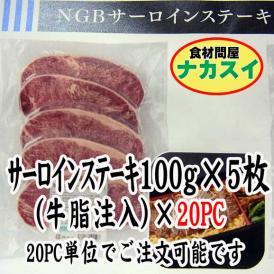 サーロインステーキ100g5枚入(牛脂注入)×20PC 業務用 冷凍