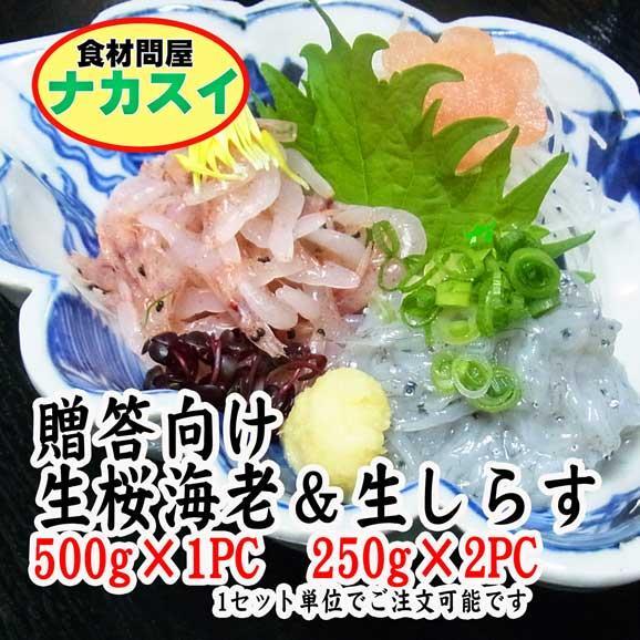 静岡 桜海老、生しらすセット 限定20セット 冷凍01