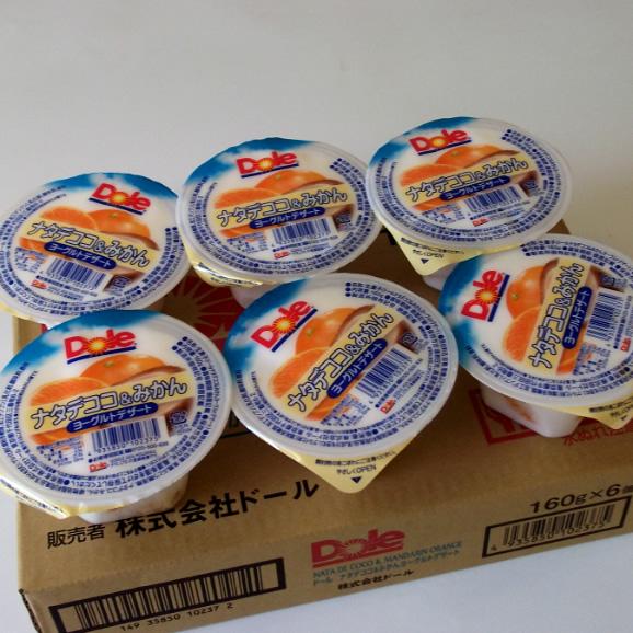 南国フルーツ・ドールゼリー6個入(ナタデココ&みかんヨーグルトデザート)送料無料¥1,80003