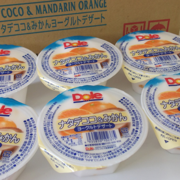 南国フルーツ・ドールゼリー12個入(ナタデココ&みかんヨーグルトデザート)送料無料¥1,80002