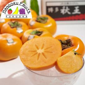 南国フルーツ【予約販売】福岡産ブランド柿・秋王約1.5kg(4~6玉)