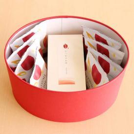 なつめチップ8個とお茶8パック2種類選べるセット 赤箱(大)オーバルセット
