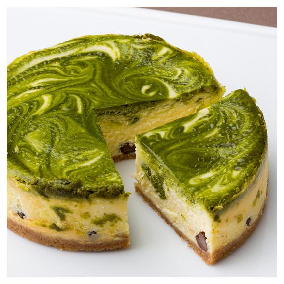 抹茶のチーズケーキ01