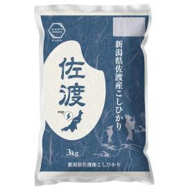 【令和元年産】佐渡産コシヒカリ 3kg