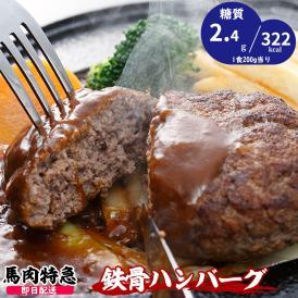 馬肉100% 鉄骨ハンバーグ 200g×5食入り