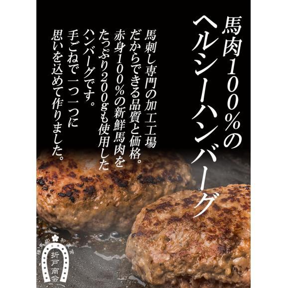 馬肉100%のウマウマ馬肉ハンバーグ 200g×5食入り02
