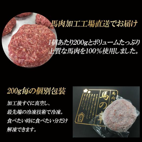 馬肉100%のウマウマ馬肉ハンバーグ 200g×5食入り03