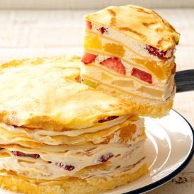 誕生日ケーキ バースデーケーキ 送料無料 ミルクレープ 5号 『ミルクレープの呼吸 伍ノ型 霓裳羽衣~げいしょううい~』