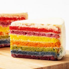 誕生日ケーキ バースデーケーキ 送料無料 レインボーケーキ 5号 アメリカ発 カラフルケーキ