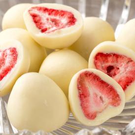 ストロベリーチョコ 苺 ホワイトチョコ トリュフ お菓子 スイーツ