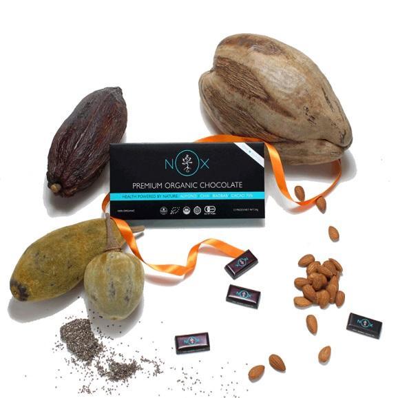 NOXプレミアムオーガニックチョコレート アーモンド&チアシード01