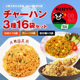 ≪食べて応援!!くまもと≫◆チャーハン3種16袋セット◆【送料無料】熊本