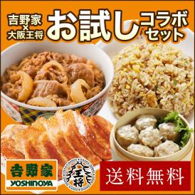 ≪吉野家×大阪王将≫お試しコラボセット【送料無料】