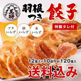 [送料無料]大阪王将 羽根つき餃子120個セット(ぎょうざ/ギョウザ/冷凍/中華/弁当/惣菜)