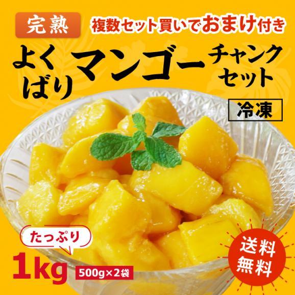 [送料無料]よくばり冷凍 完熟マンゴーセット 1kg(500g×2袋)01