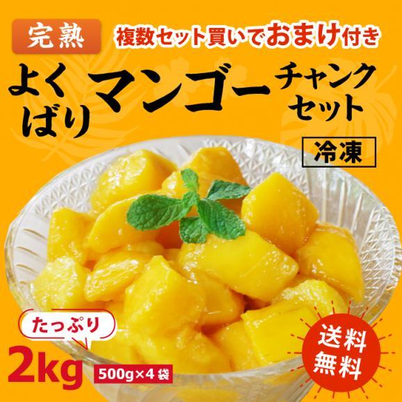 [送料無料]よくばり冷凍 完熟マンゴーセット 2kg(500g×4袋)01