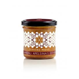 シェルクシュノ・メドゥス ハニーシナモン・オレンジ&レモン serksno medus honey with cinnamon and freeze-dried orange&lemon 200g