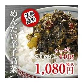 \送料無料!/めんたい辛子高菜2袋セット『お得な440g!』