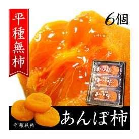 柿干し柿お歳暮ギフト贈り物 山梨特産あんぽ柿 6個入(平種無柿 ひらたねなしがき)
