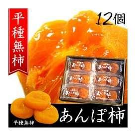 柿干し柿お歳暮ギフト贈り物 山梨特産あんぽ柿 12個入(平種無柿 ひらたねなしがき)