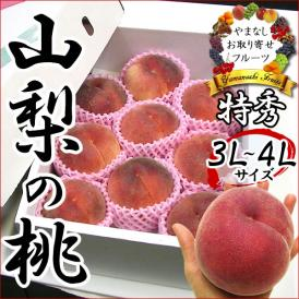 お中元 桃ギフト 山梨県産もも 約3kg (白鳳・白桃・甲斐黄金桃)※オプションでお届け予定をご選択下さい