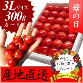 母の日 プレゼント フルーツ さくらんぼ 大玉 3L 300g ※お届け予定:5/10-25日頃