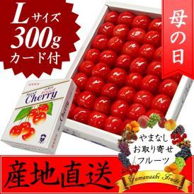 母の日 プレゼント フルーツ さくらんぼ 佐藤錦・高砂 化粧箱 L 300g