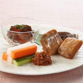 会津郷土料理 三種盛 ・会津ネギ味噌・にしんの山椒漬け・棒タラ甘露煮