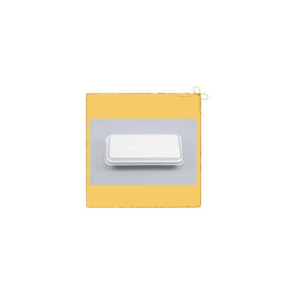 【送料無料】VK-65 無地 折蓋角丸 (1200枚/ケース) お好み焼・たこ焼き・焼きそば・使い捨て容器01