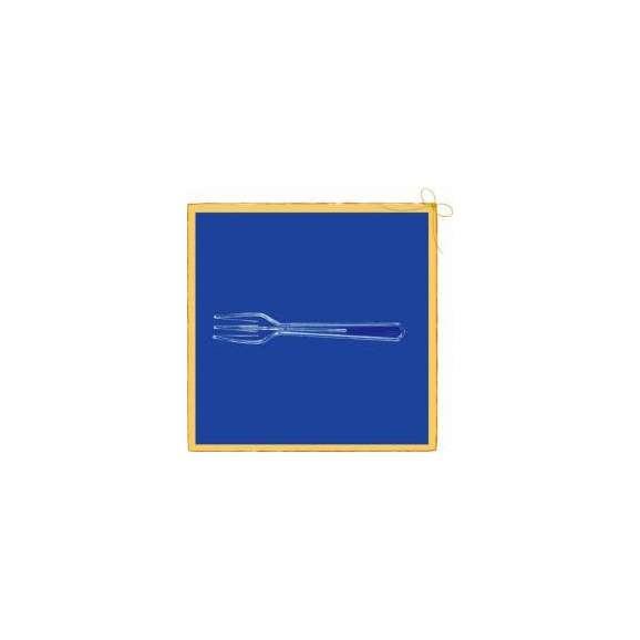 使い捨て フォーク フォーク#110 透明 バラ 500本01