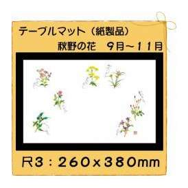 テーブルマット 尺3 秋野の花 No.316 100枚