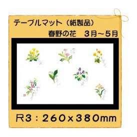 テーブルマット 尺3 春野の花 No.308 100枚