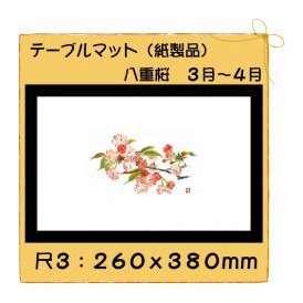 テーブルマット 尺3 八重桜 No.300 100枚