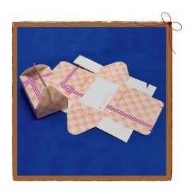 紙BOX 手提げサンドウィッチケース チェック柄 既製柄 100枚