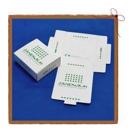 紙BOX サンドウィッチケース 既製並寸 グリーン 100枚