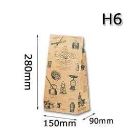 角底袋 ハイバック シルバースミス H6 1000枚/ケース
