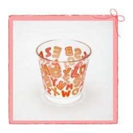 C76-180 デザートカップ アルファベット (25個)<br>【ゼリー プリン スウィーツ デザートカップ 手作り プラスチック】