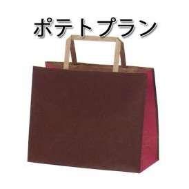 手提げ紙袋 ポテトプラン (300枚/ケース) 【紙袋/テイクアウト/ギフト/プレゼント/送料無料】